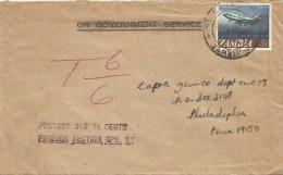 Zambia 1971 Chingo Underfranked Taxed Cover - Zambia (1965-...)