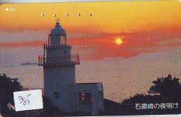 Télécarte Japon PHARE (385) Telefonkarte Japan LEUCHTTURM * VUURTOREN LIGHTHOUSE LEUCHTTURM FARO FAROL Phonecard - Phares