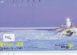 Télécarte Japon PHARE (386) Telefonkarte Japan LEUCHTTURM * VUURTOREN LIGHTHOUSE LEUCHTTURM FARO FAROL Phonecard - Phares
