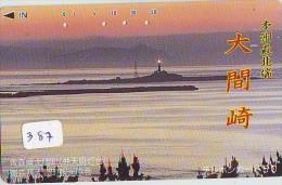 Télécarte Japon PHARE (387) Telefonkarte Japan LEUCHTTURM * VUURTOREN LIGHTHOUSE LEUCHTTURM FARO FAROL Phonecard - Phares
