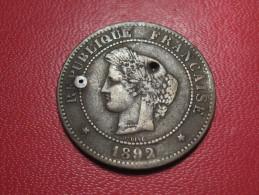 5 Centimes Cérès 1892 A Paris 6184 - C. 5 Centimes