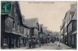 Le Faou Finistère Rue Mairie Attelage Boutiques Animation 1910 TB état - France