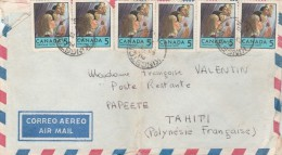 LETTRE DU CANADA KINGSTON 1970 POUR TAHITI POLYNESIE TAXEE A 10F -2 SCANS - Polynésie Française