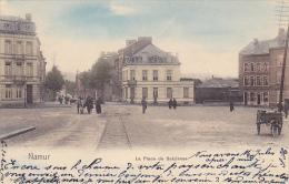 Salzinnes  Namur La Place De Salzinnes Rails Du Tram Charette à Chiens Attelage Colorisé Circulé En 1909 - Namur