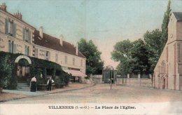 CPA VILLENNES - LA PLACE DE L'EGLISE - Villennes-sur-Seine