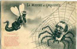 ILLUSTRATEUR - Bergeret : La Mouche Et L' Araignée ( Thème Rare : Satyre...) - Bergeret