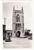 West Walton: OLDTIMER CAR - St.  Mary's Bell Tower, The Steeple, Church  - England - PKW