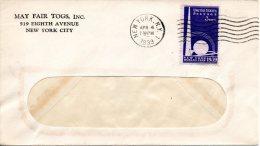 USA. N°405 De 1939 Sur Enveloppe Ayant Circulé. Exposition Internationale De New-York. - Expositions Universelles