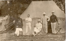 CPA 1021 - MILITARIA - Carte Photo Militaire - Soldats N°58 Sur Les Cols & Chien - AVIGNON - Photo DUVAU à COLOMBES - Personen