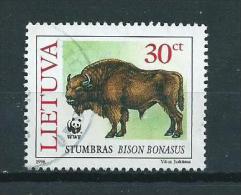 1996 Litouwen 30 Cent Wisent,wild Animals,dieren,tiere Used/gebruikt/oblitere - Lituanie