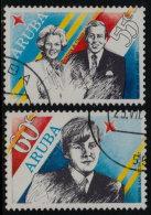 ~~~ Aruba 1987 - Royal Visit - NVPH 22/23  (o) Used  ~~~ - Antillen