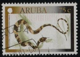 ~~~ Aruba 2000 - Fauna Snakes Santanero  - NVPH 245 (o) Used  ~~~ - Antillen