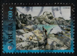 ~~~ Aruba 2000 - Views Conchi  - NVPH 254 (o) Used  - Key Value ~~~ - Antillen