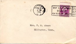 USA. N°313 De 1932 Sur Enveloppe Ayant Circulé. G. Washington. - George Washington