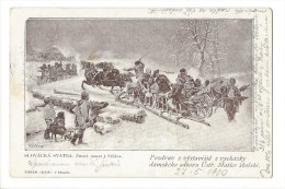11163 -Slovacka Svatba Mariage Slovaque Traîneaux 1900 - Tchéquie