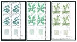 POLYNESIE 1986 - Yv. 268 à 270 ** SUP Bloc De 4 Coin Daté  Cote= 21,75 EUR - Plantes Médicinales (3 Val) ..Réf.POL22080 - Polinesia Francesa