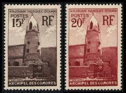 COMORES 1950 - Yv. 10 Et 11 ** SUP  Cote= 9,60 EUR - Mosquée D'Ouani, à Anjouan (2 Val.) ..Réf.AFA21540 - Komoren (1950-1975)