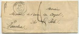 LAC - 1836 - Grenoble (38) Pour L´Isle-sur-la-Sorgue (84) - Marcophilie (Lettres)