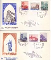San Marino 1966 - FDC Vedute, 6v. - FDC