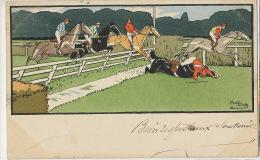 Harry Eliott Course Chevaux Obstacles Chute Horse Race - Elliot