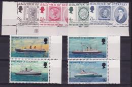 1971 / 1973 Guernsey 2 SERIE 49/52, 70/73 MNH** - Guernesey