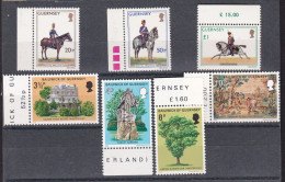 1975 Guernsey 2 SERIE 113/15, 116/19 MNH** - Guernesey