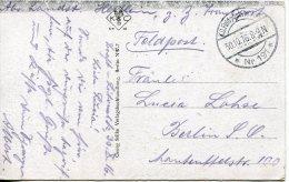 Ww1 K. D. Feldpoststation Nr. 191 Postcard 1916 10 30 To Berlin. Brest Litowsk - WW1