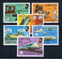 Liberia 1976 Telefon Mi.Nr, 997/1002 Kpl. Satz Gestempelt - Liberia