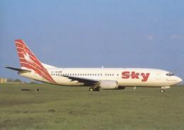 SKY AIRLINES, Boeing 737-4Y0, Unused Postcard [15233] - 1946-....: Moderne
