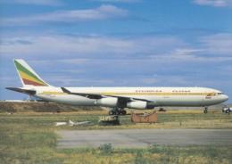 ETHIOPIAN AIRLINES, A340-312, Unused Postcard [15244] - 1946-....: Moderne