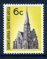 South West Africa 1966-72 Definitives - 6c German Lutheran Church LHM (SG B211) - África Del Sudoeste (1923-1990)