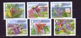 2011 aurigny neuf n� 404/09 faune : insecte : papillon de nuit : sphinx : fleur