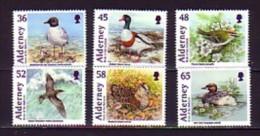 2011 aurigny neuf n� 410/15 faune : oiseau : mouette : roitelet : puffin : b�casse