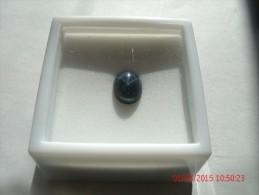 BLACK STAR SAPPHIRE, TRTD, 1.90CT, 9X7mm, OVAL - Saphir