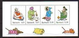 2011 danemark neuf ** bloc n� 46 conte d'hiver : viking : chat : chien : oie : peche