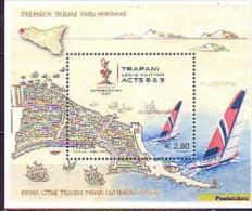 2005 italie neuf ** bloc n� 39 sport nautique : voile : coupe de l'am�rica : voilier : r�gate