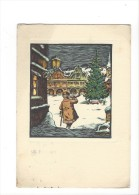 11183 - Ceskoslovenské Umeni Orevorytova Malba Sapin De Noël (Format 10 X 15) - Peintures & Tableaux