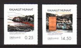 2012 groenland neuf ** n� 590/91 mine de graphite : min�raux : timbre autoadh�sif