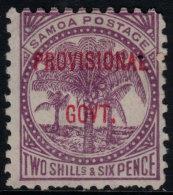 ~~~ Samoa 1899 - Ovpt PROVISIONAL GOVT -Mi. 33 * Mint  ~~~ - Samoa