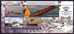 2012 man neuf ** bloc n� 93 transport : barge royal : canot de sauvetage