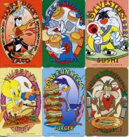 HONG KONG 1997 Full Set =6 Ex  DISNEY Warner Bros. Taco, Sushi,Curry,Burger ..etc   MINT - Hongkong