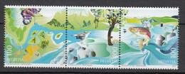 2013 suisse neuf ** n� 2229/31 faune : renaturation : oiseau : papillon : poisson
