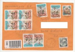 Giochi Mondiali Militari £.850x8 + Castelli Su Raccomandata 3/12/98 - 6. 1946-.. Repubblica
