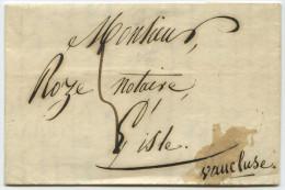 LAC - 1841 - Lyon (69) Pour L'Isle-sur-la-Sorgue (84) - Entête Courtois Pharmacien Chimiste - Marcophilie (Lettres)