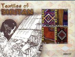 2009 BOUTHAN neuf ** bloc n� 458 artisanat : textile : tissus