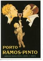 CP Porto Ramos-Pinto Par René Vincent Photothèque Perrin N°49 (illustrateurs) Cupidon Couple - Portugal - Advertising