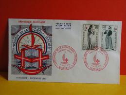FDC- Centenaire Croix Rouge Française - Bordeaux - 7.12.1963 - 1er Jour, Cote 5 € - FDC