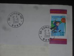 SOMAIN CC - NORD - CACHET ROND MANUEL SUR YT 3373 - PUBLICITE CINEMA PETIT MINEUR - - Marcophilie (Lettres)