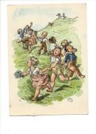 11198-    Radostné Velikonoce  Joyeuses Pâques  Ronde D'enfants  MFK (Format 10 X 15) - Illustrateurs & Photographes