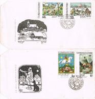 11297. DOS Cartas PRAHA (Checoslovaquia) 1970. Maur JOSEF LADA, Pintor - Checoslovaquia